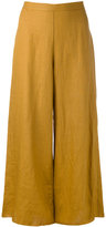 Simon Miller wide leg cropped pants - women - Linen/Flax - 0