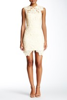 Minuet Floral Lace Jewel Neck Sheath Dress
