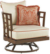 Tommy Bahama Pacifica Swivel Lounge Chair - Off-White