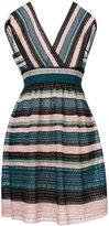 M Missoni striped crochet-knit dress