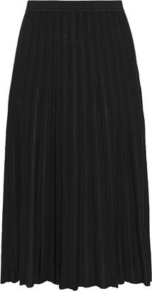 Diane von Furstenberg Kiara Pleated Ribbed-knit Skirt