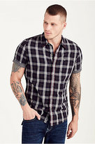 True Religion Hand Picked Short Sleeve Button Down Mens Shirt