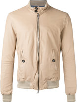 Jacob Cohen leather bomber jacket - men - Cotton/Leather/Viscose - 52