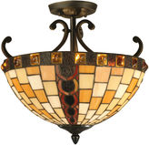 Dale Tiffany Dale TiffanyTM Baroque Semi Flush Mount
