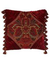 "Dian Austin Couture Home Bohemian Rhapsody 20""Sq. Medallion Pillow with Ruched Corners"