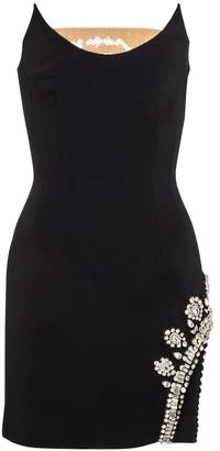 David Koma Embellished strapless cady minidress