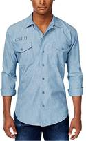 G Star Men's Utility Fridom Chambray Long Sleeve Button Down Shirt