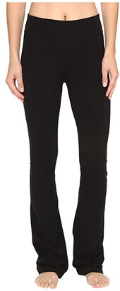 Hard Tail Rolldown Bootleg Flare Pants (Black) Women's Casual Pants