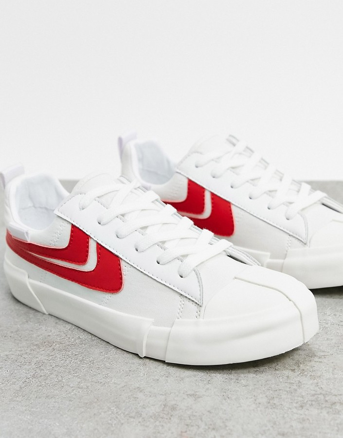 Thumbnail for your product : Joshua Sanders low top trainer in white and red