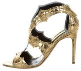 Rupert Sanderson Metallic Caged Sandals