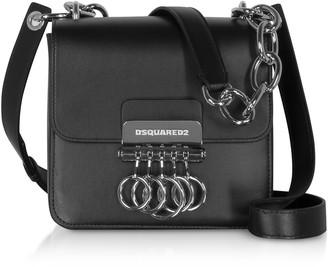 DSQUARED2 Black Leather Key Crossbody Bag