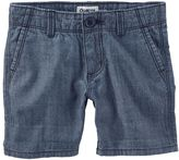 Osh Kosh Girls 4-8 Denim Chambray Shorts