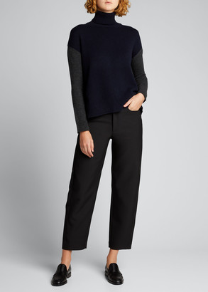 Majestic Filatures Colorblock Wool-Cashmere Turtleneck Sweater
