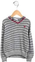 Armani Junior Boys' Striped V-Neck Sweater