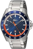 Lacoste Men's 'WESTPORT' Quartz Stainless Steel Casual Watch, Color:Silver-Toned (Model: 2010886)