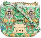 Miu Miu Green Paisley Print Madras Shoulder Bag