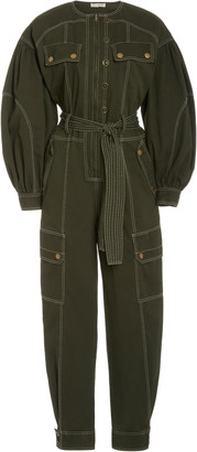 Ulla Johnson Stearling Cotton Utilitarian Jumpsuit