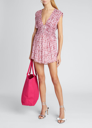 Etoile Isabel Marant Segun Printed Sleeveless Mini Dress