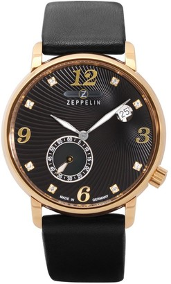 Zeppelin Analogue Swiss Quartz Movement Watch with Leather Strap 7633-2