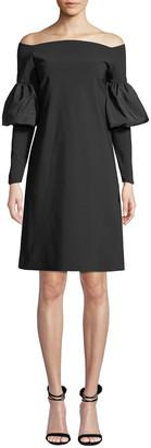 Chiara Boni Zose Taffeta Balloon-Sleeve Dress