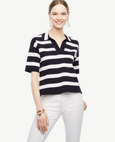 Ann Taylor Striped Polo Sweater