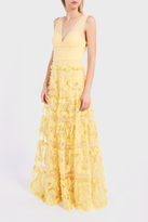 Marchesa Textured Tulle Gown