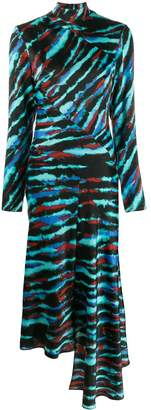 House of Holland tie-dye panelled dress