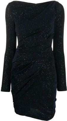 Talbot Runhof Glitter Ruched Dress