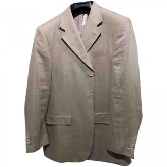 Alexander McQueen Beige Linen Suits