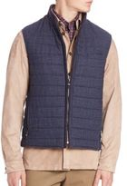 Luciano Barbera Wool Tweed Vest