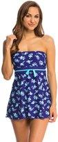 Gabar Shadow Flower Bandeau Swim Dress 8138618