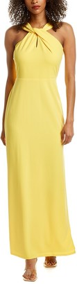Bebe Twisted Halter Gown
