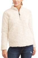 Time and Tru Women's Plus Size Snow Tipped Quarter Zip Jacket