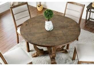 Dufresne Rustic Round Pub Table Gracie Oaks