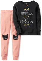 Carter's Baby Girls' 2-Pc. So Cute It's Scary Pajama Set
