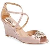 Badgley Mischka Women's 'Abigail' Peep Toe Wedge