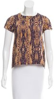 Gryphon Silk-Blend Short Sleeve Top w/ Tags