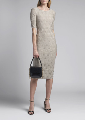 Giorgio Armani Geometric Jacquard Dress
