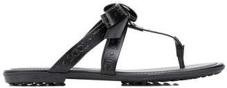 Tod's embossed logo flat sandals
