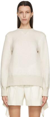 Sacai Off-White Sponge Sweatshirt