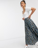 Asos DESIGN pleated midi skirt in floral print