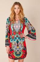Hale Bob Valri Floral Starburst Dress In Red