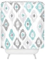 "DENY Designs Quiet Ikat Shower Curtain - Gray (71"" x 74"
