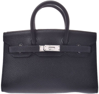 Hermes Black Epsom Leather Palladium Hardware Micro Birkin Bag