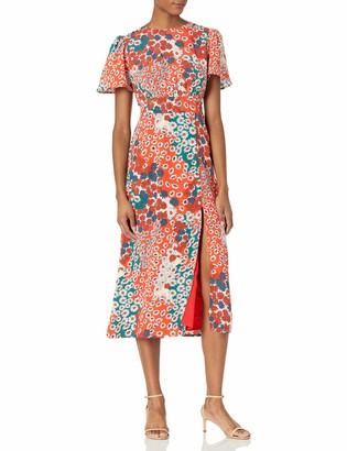 Sugar Lips Sugarlips Women's High Slit Print Midi Dress