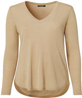 Ralph Lauren Woman Silk-Blend V-Neck Sweater