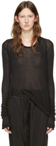Haider Ackermann Black Long Sleeve T-Shirt
