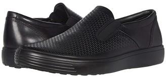 Ecco Soft 7 Premium Slip-On (Black) Men's Shoes