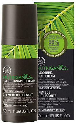 The Body Shop Nutriganics Smoothing Night Cream 1.69 fl oz (50 ml)