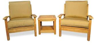Regal Teak Teak 3 Piece Conversation Set with Sunbrella Cushions